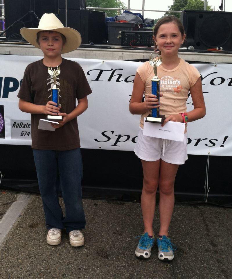 Bubble gum bubble blowing contest winners 9- 15 age bracket